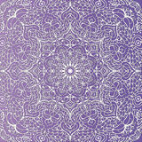 Tracery violet wallpaper background floral pattern in the form of a square mandala  illustration Stock Image