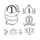 Tracerydesign vid illustrationsvartfärgpulver Royaltyfri Foto