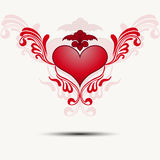 Traceryhjärta med vingar vektor Royaltyfria Foton