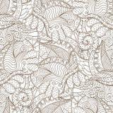 Tracerymehndi gebogen ornament Etnisch motief, zwart-wit binaire harmonische krabbeltextuur Rebecca 36 Vector Stock Foto's