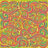 Tracerypatroon Etnische kleurrijke harmonische krabbeltextuur Onverschillige discreet Gebogen doodling Vector Stock Fotografie