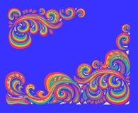 Tracerypatroon Etnische kleurrijke harmonische krabbeltextuur Onverschillige discreet Gebogen doodling Vector Stock Foto's
