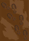 Fotspår i muden Arkivbilder