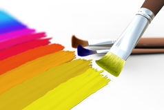 Traces of brush Royalty Free Stock Images