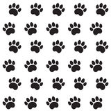 Traces of Cat Textile Pattern Stock Image