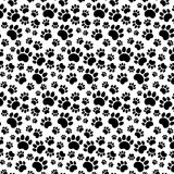 Traces of Cat Textile Pattern Royalty Free Stock Image