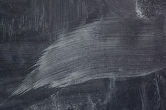 Traces of chalk on the blackboard. Royalty Free Stock Photos