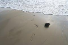 Traces d'être humain sur le sable Images libres de droits
