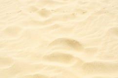 Traces dans le sable, à sable jaune sur la plage au-dessus de l'océan, mer Photos libres de droits
