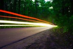 Traces des lumières Image stock