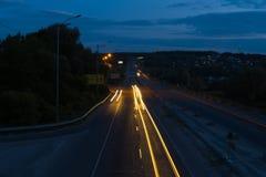 Traces des lumières Photos libres de droits