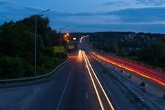Traces des lumières Photo libre de droits