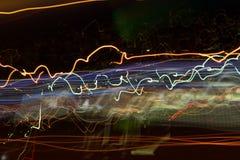 Traces des lumières Photographie stock