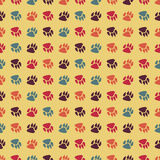 Traces of dog seamless pattern background. Vector seamless traces of dog Royalty Free Stock Images