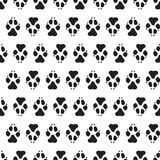 Traces dogs seamless vector pattern. Stock Images