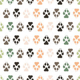 Traces dogs seamless vector pattern. Royalty Free Stock Photo