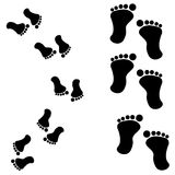 Traces of feet Royalty Free Stock Photography