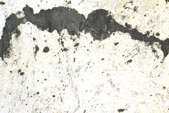 Traces of grout on white wall background Royalty Free Stock Photo