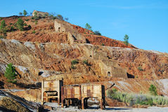 Traces historic Mining in Spain Royalty Free Stock Photography