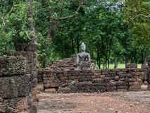 Traces of history of nations Thailand, ruins,Believe of buddhism Royalty Free Stock Image