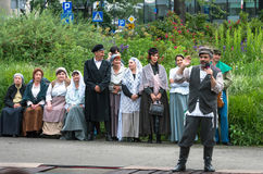 Traces of Jewish Warsaw - Fiddler on the Roof Stock Photography