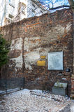 Traces of the Jewish Warsaw - Ghetto wall Royalty Free Stock Image