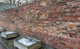 Traces of the Jewish Warsaw - Ghetto wall Royalty Free Stock Photography