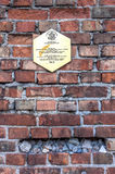 Traces of the Jewish Warsaw - Ghetto wall Royalty Free Stock Photo