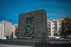 Traces of Jewish Warsaw - Monument to the Ghetto Heroes Stock Photography