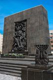 Traces of Jewish Warsaw - Monument to the Ghetto Heroes Stock Images