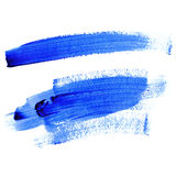 Traces of Lines with Blue Paint Stock Images