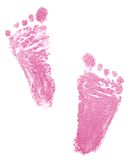 Traces of newborn. (2 months Stock Image
