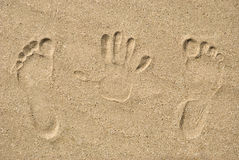 Free Traces On Sand Stock Image - 30432341