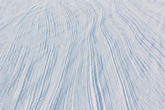 Traces from a parachute cord on snow Stock Images