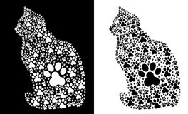 Traces-Paw-Cat Royalty Free Stock Images