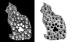 Traces-Paw-Cat stock illustration