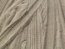 Marks in the sand royalty free stock photos