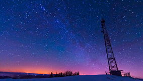 Traces of stars against the night sky, shot long exposure. stock video footage