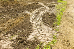 Traces of tractor Royalty Free Stock Photos