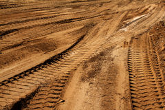 Traces Transport Technical Sand Stock Image