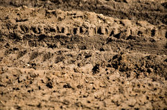 Traces of the wheel off-road Royalty Free Stock Images
