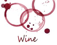 Spots of red wine Royalty Free Stock Photos