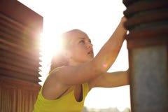 Traceur Backlit durch The Sun Lizenzfreie Stockbilder