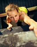 Traceur Participating In Parkour Wall Royalty Free Stock Photos
