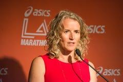 Tracey Russell, κύριος ανώτερος υπάλληλος του μαραθωνίου LLC Λα Στοκ Εικόνες