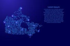 Tracez le Canada du conseil imprimé, de la puce et du composant par radio avec bleu Photo stock