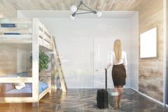 Tracez le lit et une affiche intérieure de sofa modifiée la tonalité Photos stock