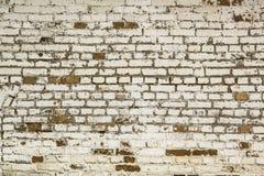 Tracez le style la brique que blanche a fendu le fond de mur photographie stock libre de droits