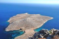Trachia peninsular, Halki island Royalty Free Stock Images