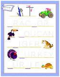Tracing letter T for study English alphabet. Printable worksheet for kids. Logic puzzle game. Education page for kindergarten. Vector image. Developing children royalty free illustration